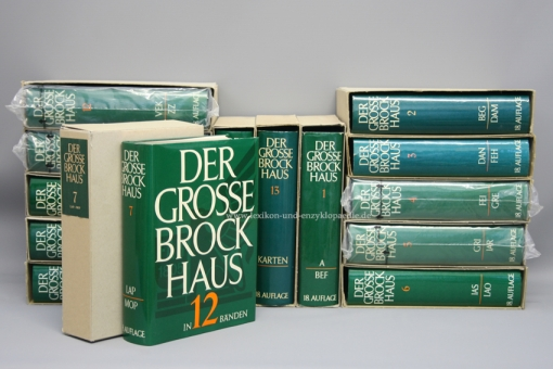 Der Große Brockhaus 18. Auflage, Nummer 743/980, 14 Bände (u.a. Karten) | OVP (teils in Folie)