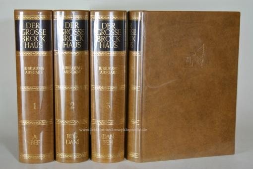 Der Große Brockhaus 18. Auflage, 14 Bände (incl. Karten & Ergänzungen) Ganzleder / Echt-Leder