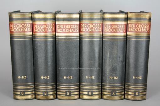 Der Große Brockhaus 15. Auflage, Band 8 (H - Hz), 1931, Prachtausgabe 8