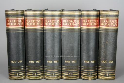 Der Große Brockhaus 15. Auflage, Band 13 (Mue - Ost), 1932, Prachtausgabe 13