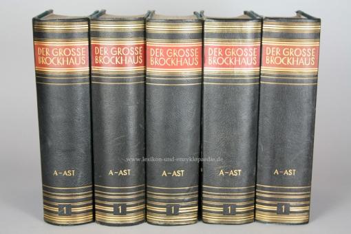 Der Große Brockhaus 15. Auflage, Band 1 (A - Ast), 1928, Prachtausgabe 1
