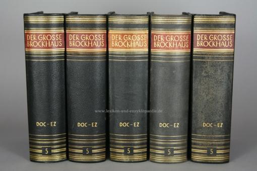 Der Große Brockhaus 15. Auflage, Band 5 (Doc - Ez), 1930, Prachtausgabe 5