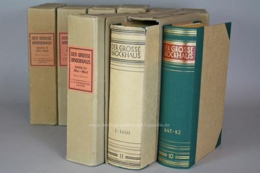 Der Große Brockhaus 15. Auflage, 21 Bände (incl. Ergänzungen), 1928-1935, OVP (!)