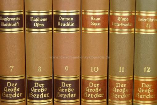 Der Große Herder 4. Auflage, Einzel-Band, Prachtausgabe (Kopfgoldschnitt)