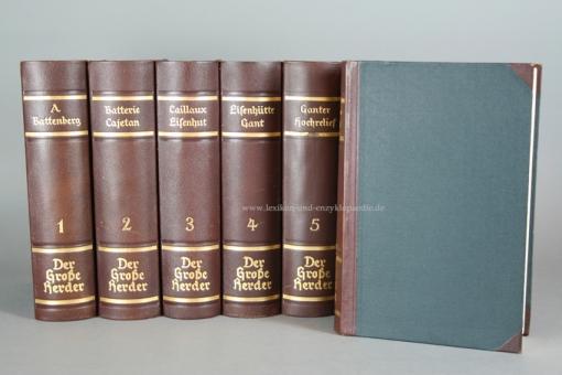 Der Große Herder 4. Auflage, Einzel-Band, Halbleder