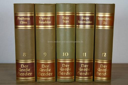 Der Große Herder 4. Auflage, Band 12 (Unterführung - Zz), 1935, Prachtausgabe (Kopfgoldschnitt) 12