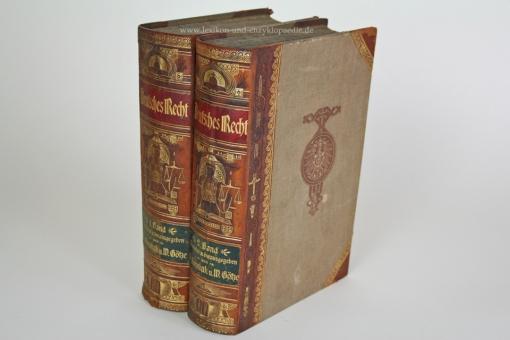 Deutsches Recht. Ein Hilfsbuch für Beamte, Gewerbetreibende ..., Bong, 2 Bände, Erstausgabe, 1902