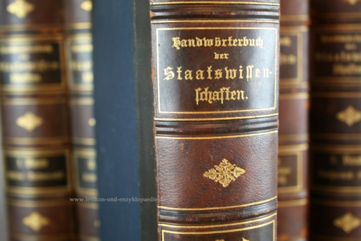 Handwörterbuch der Staatswissenschaften, 6 Bände, Gustav Fischer, Erstausgabe, 1890