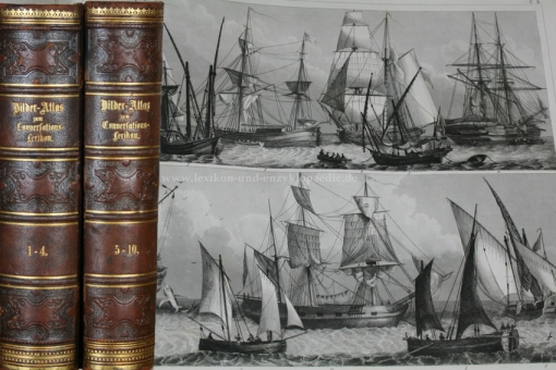 Brockhaus Systematischer Bilder-Atlas zum Conversations-Lexikon, EA 1849 (f. 500 Tafeln)