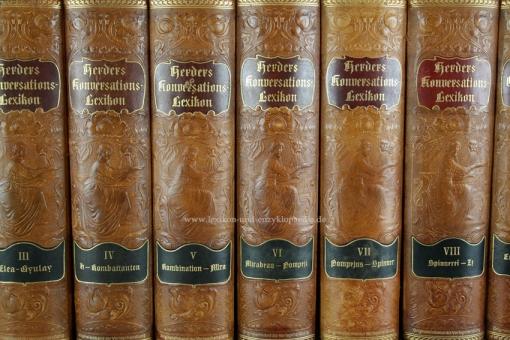 Herders Konversations-Lexikon 3. Auflage, 11 Bände, 1902-1922, Jugendstil