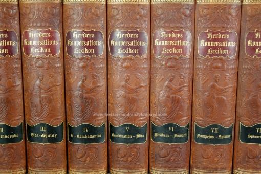 Herders Konversations-Lexikon 3. Auflage, 9 Bände, 1902-1910, Jugendstil (I)