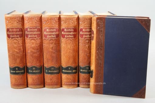 Herders Konversations-Lexikon 3. Auflage, 8 Bände (A-Z), 1902-1907, Jugendstil
