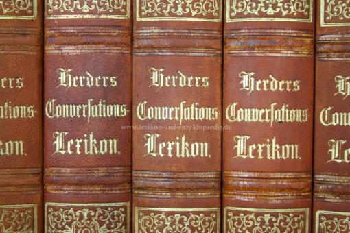 Herders Conversations-Lexikon 1. Auflage Erstausgabe, 5 Bände (A-Z), 1856-1858