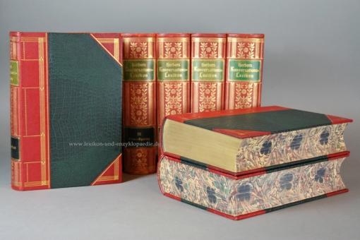 Herders Konversations-Lexikon 3. Auflage, 9 Bände (incl. Ergänzungen), Prachtausgabe, 1902, selten