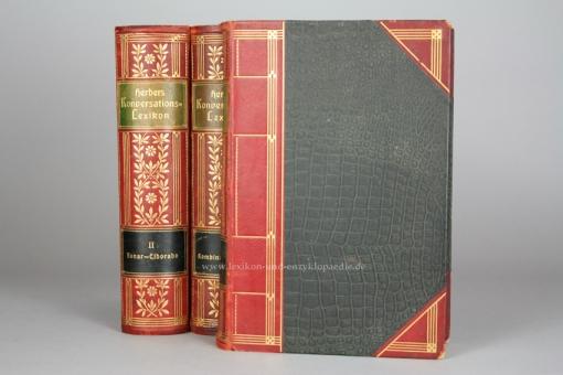 Herders Konversations-Lexikon 3. Auflage, Fünfter Band 5 / V (Kombination - Mira), 1905, Prachtausgabe, selten V