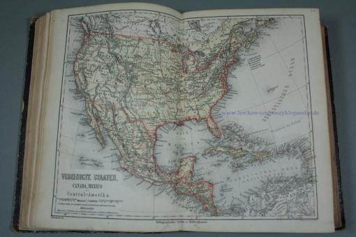 Meyers Konversations-Lexikon 2. Auflage, alle 206 Illustrationen (Tafeln & geograph. Karten), 1867