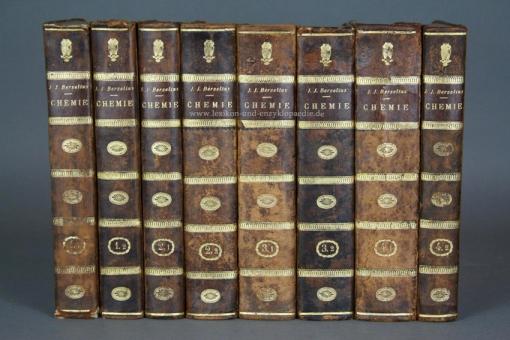 Berzelius, Lehrbuch der Chemie, 4 Bände (komplett), 1825-1831, Kupfer-Tafeln