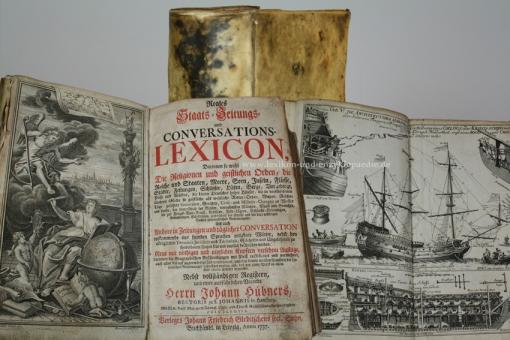 Hübners Reales Staats- Zeitungs- und Conversations-Lexicon, 1737, Kupfer-Stiche