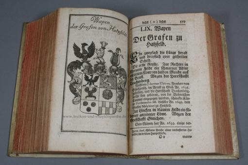 Trier, Einleitung zu der Wapen-Kunst, 142 ganzseitige Kupfer-Tafeln mit Wappen, 1744