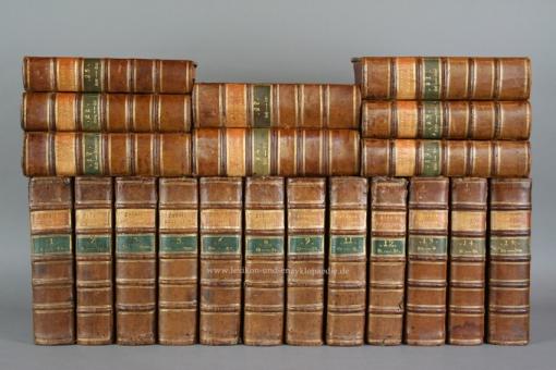 Krünitz, Oeconomische Encyklopädie, 20 Bände (ab Band 1), 268 Kupfer-Tafeln, 1787-1789