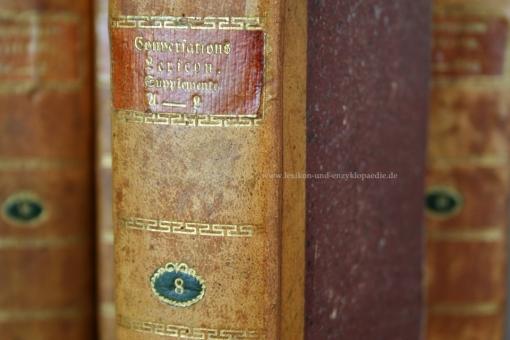 Macklot, Conversations-Lexicon oder encyclopädisches Handwörterbuch, 9 Bände (incl. Supplemente), 1818