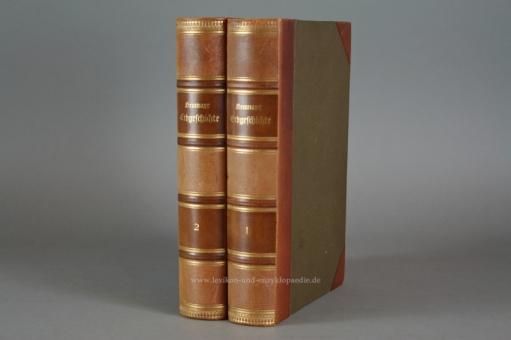 Neumayr, Erdgeschichte (in 2 Bänden), Chromolithographien, 1895