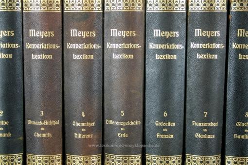Meyers Großes Konversations-Lexikon 6. Auflage, 20 Bände (A-Z), 1905-1908, Eierstab