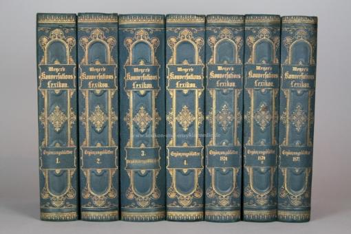 Meyer, Ergänzungsblätter zur Kenntnis der Gegenwart, alle 7 Bände, 1866-1871, selten