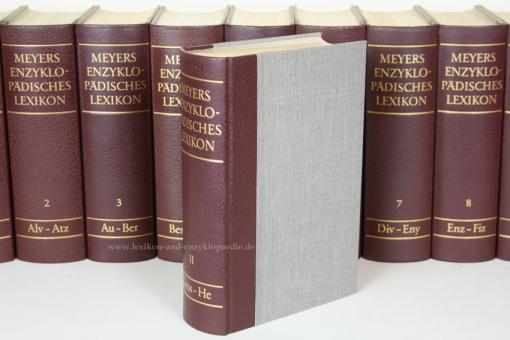 Meyers Enzyklopädisches Lexikon 9. Auflage, 25 Bände (A-Z) Halbleder