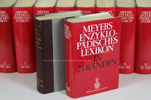 Meyers Enzyklopädisches Lexikon 9. Auflage, Einzel-Band, Halbleder