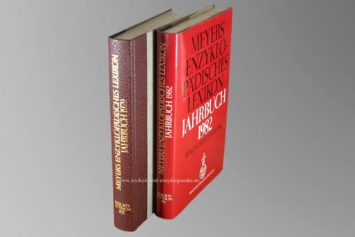 Meyers Enzyklopädisches Lexikon 9. Auflage, Jahrbuch, Halbleder