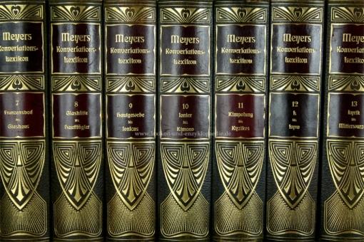 Meyers Großes Konversations-Lexikon 6. Auflage, 21 Bände, 1907-1910, Prachtausgabe