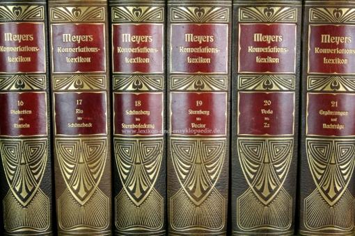 Meyers Großes Konversations-Lexikon 6. Auflage, 24 Bände, 1908-1913, Prachtausgabe