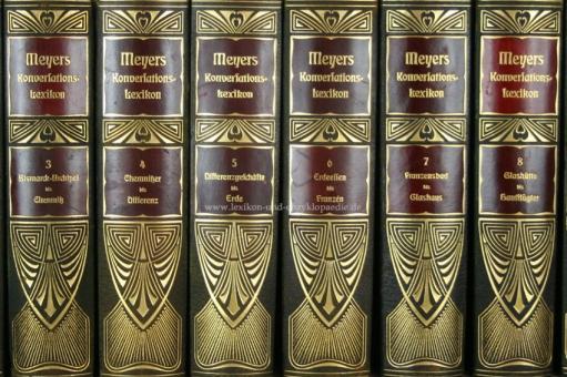 Meyers Großes Konversations-Lexikon 6. Auflage, Einzel-Band, Prachtausgabe