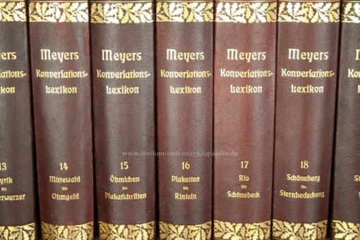 Meyers Großes Konversations-Lexikon 6. Auflage, Einzel-Band, Eichenlaub