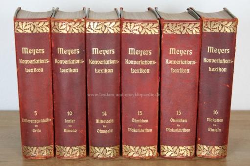 Meyers Großes Konversations-Lexikon 6. Auflage, Band 15 (Öhmchen - Plakatschriften), 1908, Eichenlaub 15