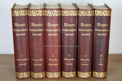 Meyers Großes Konversations-Lexikon 6. Auflage, Band 9 (Hauptgewebe - Ionicus), 1908, Eichenlaub 9