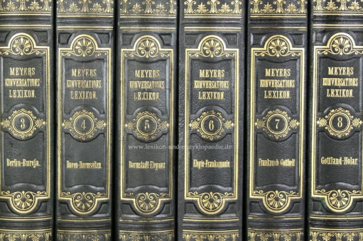 Meyers Konversations-Lexikon 3. Auflage Prachtausgabe Meidinger, 16 Bände (incl. Ergänzungen), 1874-1878