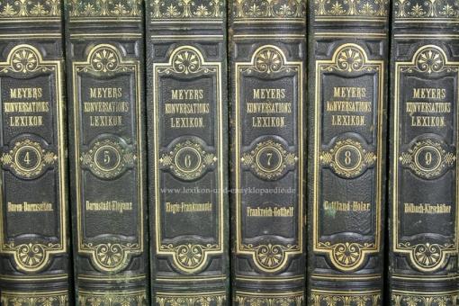 Meyers Konversations-Lexikon 3. Auflage Prachtausgabe Meidinger, 15 Bände (A-Z), 1874-1878