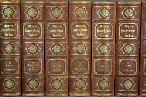Meyers Konversations-Lexikon 3. Auflage Faesy & Frick, Wien, 15 Bände (A-Z), 1874-1878