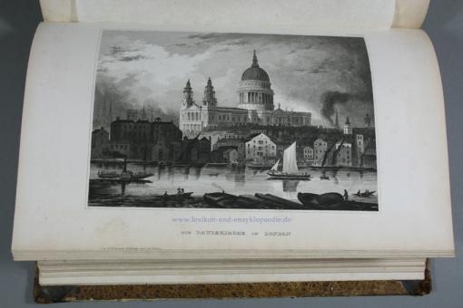 Portraits & Ansichten (Tafeln) zu Meyers Neues Konversations-Lexikon 1. Auflage, 1860, selten