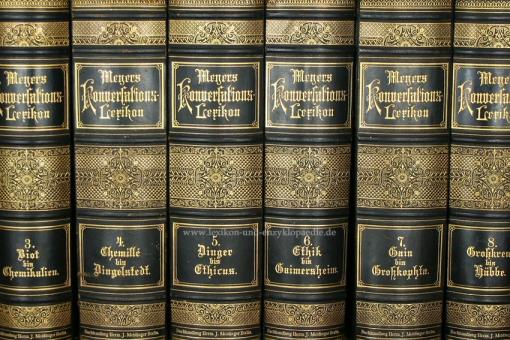 Meyers Konversations-Lexikon 5. Auflage, 17 Bände, 1896-1897, Meidinger