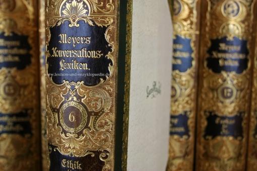 Meyers Konversations-Lexikon 5. Auflage, 18 Bände, 1894-1898, Luxus-Ausgabe
