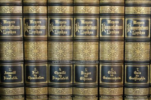 Meyers Konversations-Lexikon 5. Auflage, 17 Bände, 1895-1897, Meidinger