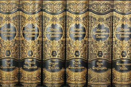 Meyers Konversations-Lexikon 5. Auflage, 18 Bände, 1893-1898, Bial & Freund