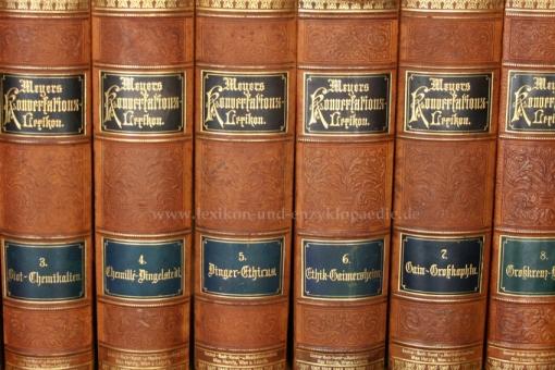 Meyers Konversations-Lexikon 5. Auflage, 17 Bände, 1893-1897, Max Herzig