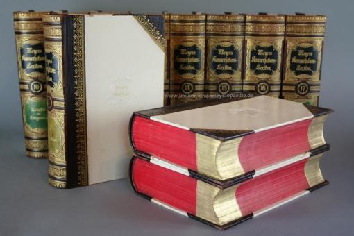 Meyers Konversations-Lexikon 5. Auflage, 18 Bände, 1897-1898, Schvenemann (Rundum-Goldschnitt)