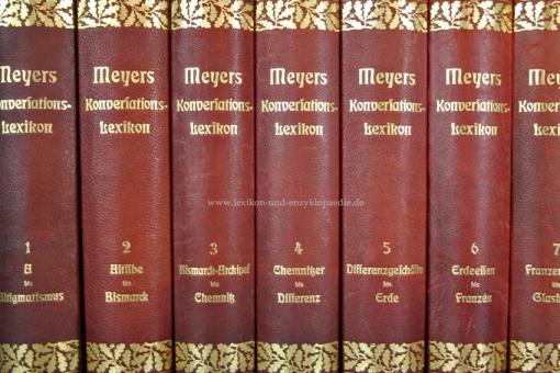 Meyers Großes Konversations-Lexikon 6. Auflage, 24 Bände, 1902-1913, Eichenlaub