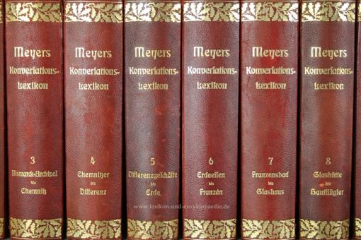 Meyers Großes Konversations-Lexikon 6. Auflage, 23 Bände, 1904-1912, Eichenlaub