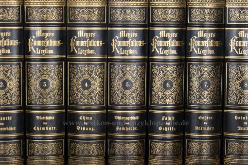Meyers Konversations-Lexikon 4. Auflage, 17 Bände, 1888-1890, Meidinger